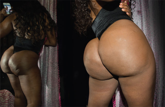 Amateur black butts