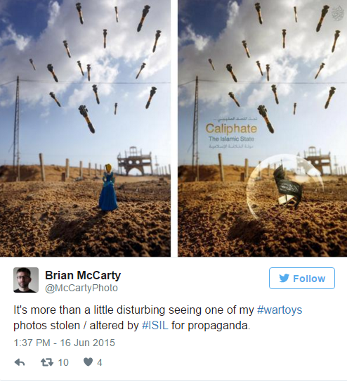 ISIS stole this photographer's image and used it for a propaganda poster