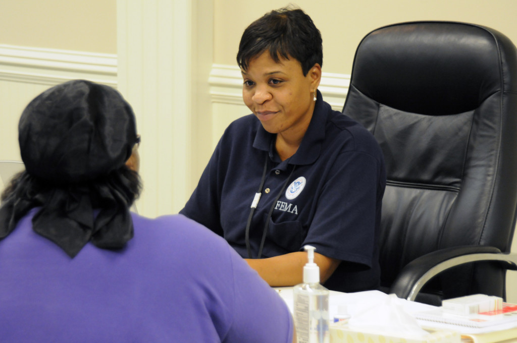 Individual Assistance Interview at Disaster Recovery Center